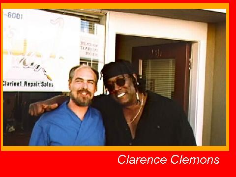Clarence Clemons Visits Lee's Sax Worx